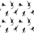 seamless monkeys pattern vector image