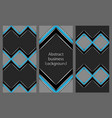 set of leaflets with an abstract pattern vector image vector image