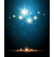 Shining Stars Colorful Background vector image