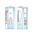 Shower Front Side View vector image vector image
