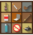 Smoking and accessories icons set vector image