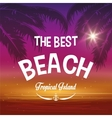 Summer season Palm and beach icon graphic vector image