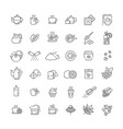 tea icon set thin line vector image