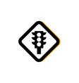 traffic light sign road flat image vector image