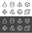 transparent geometric line icon vector image