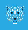 tribal polar bear vector image vector image