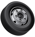 truck fore wheel vector image vector image