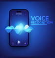 voice recognition on smartphone vector image vector image