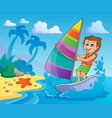 water sport theme image 2 vector image
