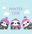 winter time with animals vector image vector image