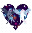 with pair winged pegasus vector image vector image