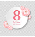 womens day pink banner vector image