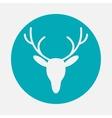 deer head icon vector image