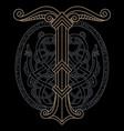 ancient scandinavian knot-work and vector image vector image