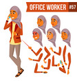 arab office worker woman traditional vector image