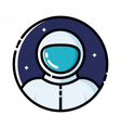 Astronaut in space vector image vector image