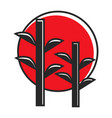 bamboo in red circle vector image