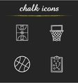 Basketball icons vector image vector image