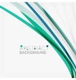 Blue and green color abstract waves vector image vector image