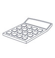 calculator doodle style black and white vector image