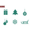 christmas and winter icons collection set of vector image