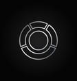circle diagram silver icon vector image vector image