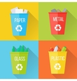 Color Recycle Garbage Bins with Glass vector image vector image