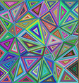 Colorful irregular triangle mosaic background vector image