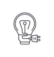 creative charge line icon concept creative charge vector image vector image