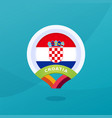 croatia flag map location pin european football vector image vector image