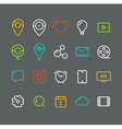 Different simple web pictograms collection vector image vector image