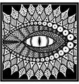dragon or snake eye black and white vector image vector image