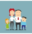 Family business couple with kids vector image