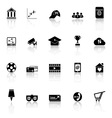 General online icons with reflect on white vector image vector image