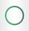 green halftones circle background vector image vector image