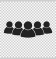group of people icon persons icon vector image