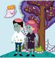 halloween kids celebration cartoons vector image vector image