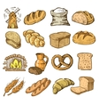 hand drawn bread vector image vector image