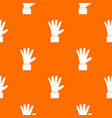 hand showing five fingers pattern seamless vector image vector image