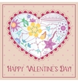 Happy valentine day card with gradient heart vector image vector image