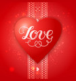 happy valentines day card with ethnic border vector image vector image