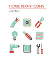 home repair electric icons vector image vector image