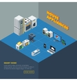 House Appliances Set Isometric vector image vector image