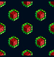 isometric cubic watermelons on dark background vector image
