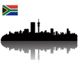Johannesburg silhouette skyline vector image