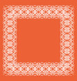 lacy frame of white lines vector image vector image