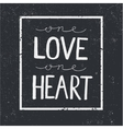 love quote lettering on blackboard vector image