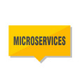 microservices price tag vector image vector image