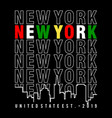 new york 3 vector image