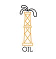 oil rig abstract design template vector image vector image